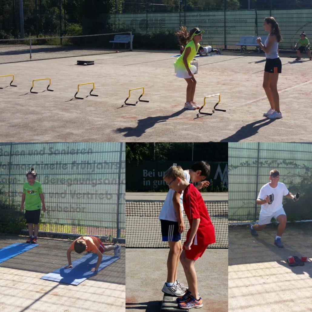 Die Übungen wurden meistens in 2er Gruppen durchgeführt.